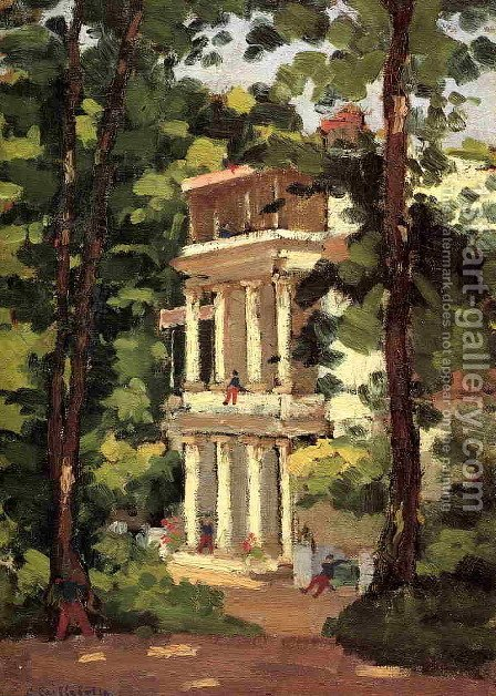 Yerres  Colonnade Of The Casin by Gustave Caillebotte - Reproduction Oil Painting