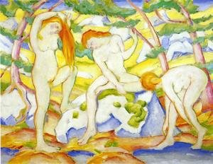 Expressionism painting reproductions: Bathing Girls