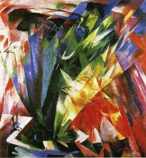 Reproduction oil paintings - Franz Marc - Birds