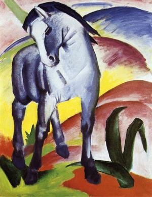 Famous paintings of Horses & Horse Riding: Blue Horse I