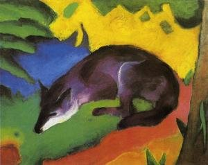 Expressionism painting reproductions: Blue Black Fox