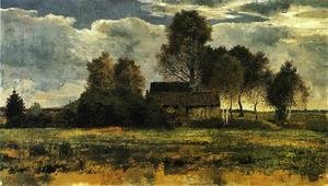 Expressionism painting reproductions: Cottages On The Dachau Marsh