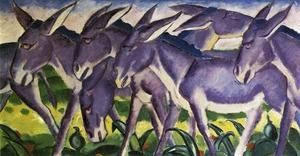 Expressionism painting reproductions: Donkey Frieze