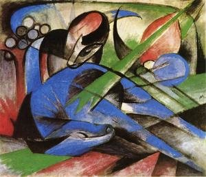 Expressionism painting reproductions: Dreaming Horses