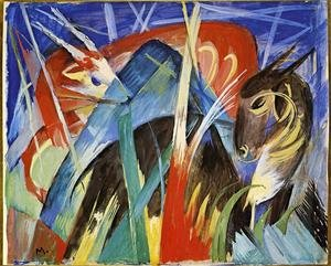 Expressionism painting reproductions: Fairy Animals