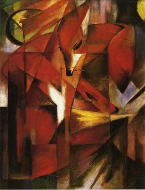Reproduction oil paintings - Franz Marc - Foxes