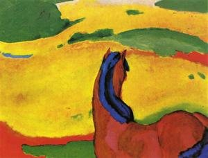 Expressionism painting reproductions: Horse In A Landscape