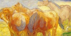 Expressionism painting reproductions: Large Lenggries Horse Painting