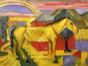 Expressionism painting reproductions: Long Yellow Horse