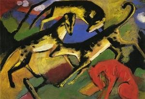 Expressionism painting reproductions: Playing Dogs