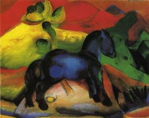 Expressionism painting reproductions: The Little Blue Horse
