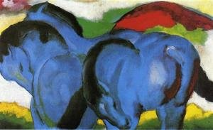 Expressionism painting reproductions: The Little Blue Horses