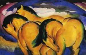 Famous paintings of Horses & Horse Riding: The Little Yellow Horses