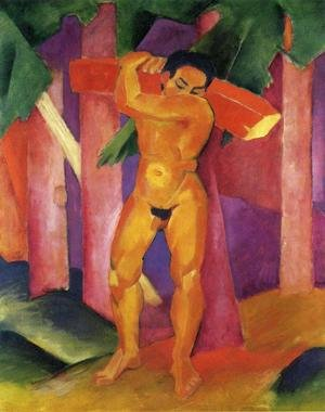 Expressionism painting reproductions: Woodcutter