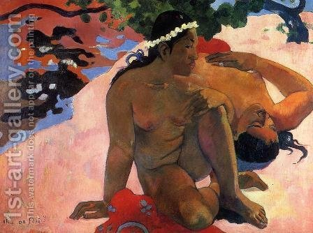 Paul Gauguin: Aha Oe Feii Aka What Are You Jealous - reproduction oil painting