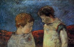 Reproduction oil paintings - Paul Gauguin - Aline Gauguin And One Of Her Brothers