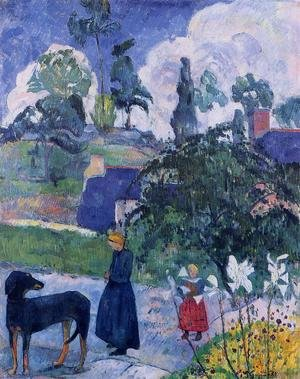 Reproduction oil paintings - Paul Gauguin - Among The Lillies