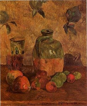 Reproduction oil paintings - Paul Gauguin - Apples  Jug  Iridescent Glass