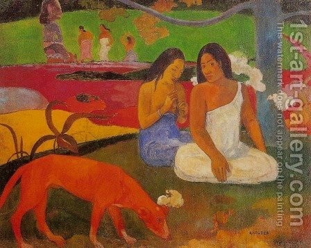 Arearea Aka Joyousness by Paul Gauguin - Reproduction Oil Painting