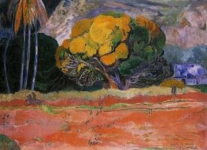 Reproduction oil paintings - Paul Gauguin - At The Foot Of The Mountain
