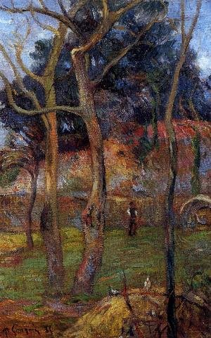 Reproduction oil paintings - Paul Gauguin - Bare Trees
