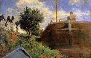 Reproduction oil paintings - Paul Gauguin - Blue Barge