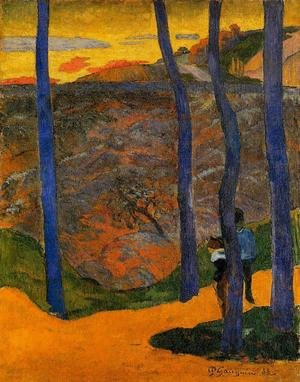 Reproduction oil paintings - Paul Gauguin - Blue Trees
