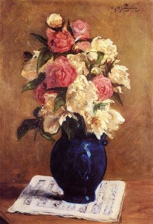 Reproduction oil paintings - Paul Gauguin - Boquet Of Peonies On A Musical Score