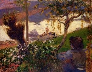 Reproduction oil paintings - Paul Gauguin - Breton Boy By The Aven River
