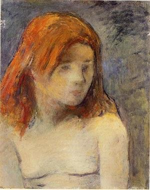 Reproduction oil paintings - Paul Gauguin - Bust Of A Nude Girl