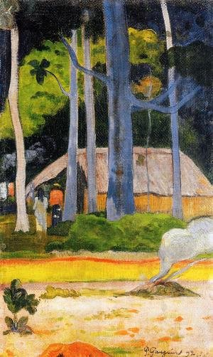 Reproduction oil paintings - Paul Gauguin - Cabin Under The Trees