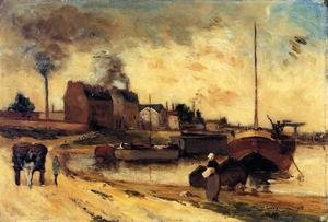 Reproduction oil paintings - Paul Gauguin - Cail Factories And Quai De Grenelle