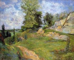 Reproduction oil paintings - Paul Gauguin - Chou Quarries At Pontoise