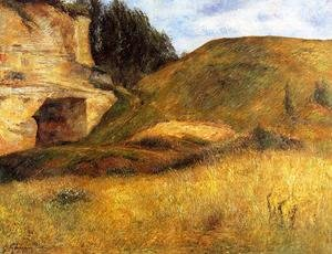 Reproduction oil paintings - Paul Gauguin - Chou Quarry  Hole In The Cliff