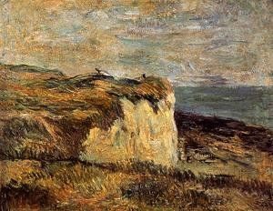 Reproduction oil paintings - Paul Gauguin - Cliff Near Dieppe