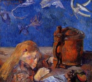 Reproduction oil paintings - Paul Gauguin - Clovis Gauguin Asleep