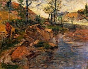 Reproduction oil paintings - Paul Gauguin - Cove Opposite Pont Aven Harbor