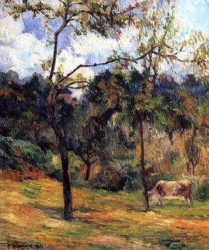 Reproduction oil paintings - Paul Gauguin - Cow In A Meadow  Rouen