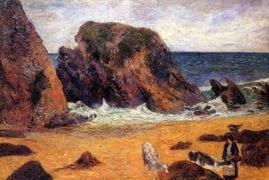 Reproduction oil paintings - Paul Gauguin - Cows By The Sea