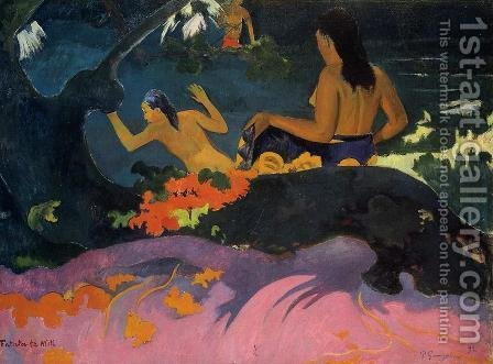 Fatata Te Miti Aka By The Sea by Paul Gauguin - Reproduction Oil Painting