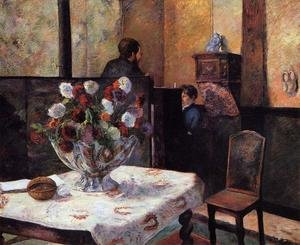 Reproduction oil paintings - Paul Gauguin - Interior Of The Painters House  Rue Carcel