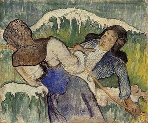 Reproduction oil paintings - Paul Gauguin - Kelp Gatherers