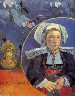 Reproduction oil paintings - Paul Gauguin - La Belle Angele Aka Madame Angele Satre  The Inkeeper At Pont Aven