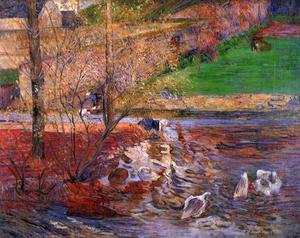 Reproduction oil paintings - Paul Gauguin - Landscape With Geese