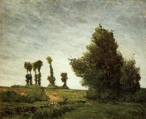 Reproduction oil paintings - Paul Gauguin - Landscape With Poplars