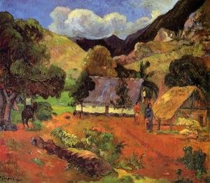 Reproduction oil paintings - Paul Gauguin - Landscape With Three Figures