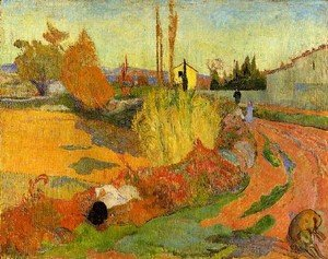 Reproduction oil paintings - Paul Gauguin - Landscape  Farmhouse In Arles