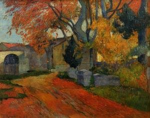 Reproduction oil paintings - Paul Gauguin - Lane At Alchamps  Arles