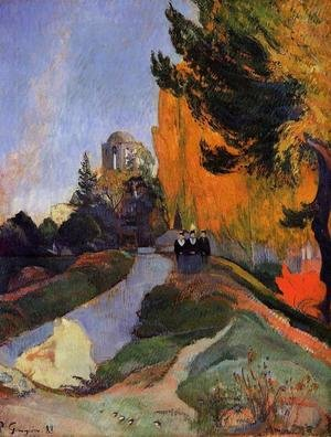Reproduction oil paintings - Paul Gauguin - Les Alychamps