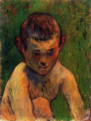 Reproduction oil paintings - Paul Gauguin - Little Breton Bather